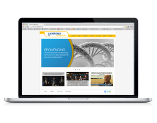 Chronix Biomedical part of Vento's Award-Winning Web Design Portfolio